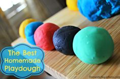 The BEST Homemade Playdough - I have tried every recipe and this is by far the best! Lasts 3+ months, coloring does NOT stain hands, and it's super easy!