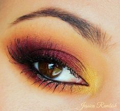 Stunning look for the fall season! This 'Supernatural' Idea Gallery look by Ohsojess using Makeup Geek's Burlesque, Chickadee, Gold Digger, and Peach Smoothie. - Jessica Rembish