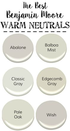 The Best Neutral Paint Colors | blesserhouse.com - The best neutral paint colors from Benjamin Moore with cool grays, warm grays, whites, and darks to create a designer palette for your home.