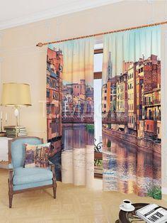 """Комплект штор """"Еврейский квартал в Хероне"""": купить комплект штор в интернет-магазине ТОМДОМ #томдом #curtains #шторы #interior #дизайнинтерьера"""