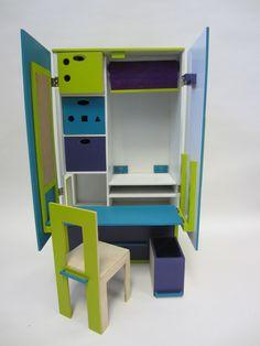 Children's activity centre & wardrobe designed by Jenny Longland