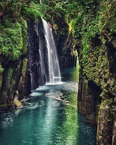 off the beaten track : Takachiho Gorge Minainotaki Waterfall Gokase River Miyazaki Prefecture Mt Aso Kyushu Japan Takachiho, Go To Japan, Visit Japan, Japan Trip, Okinawa Japan, Beautiful Places In The World, Beautiful Places To Visit, Asia Travel, Japan Travel