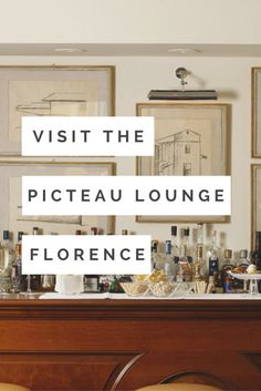 Visit The Picteau Lounge in Florence for a beautiful view of The Ponte Vecchio and amazing artwork