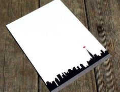 New York City Personalized Stationery With Red by fionadesigns, $20.00