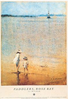 Paddlers, Rose Bay.       By J J Hilder