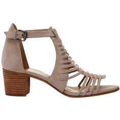 Mint Velvet Robyn Block Heeled Sandals , Nude (£129) ❤ liked on Polyvore featuring shoes, sandals, nude, mid heel sandals, cage sandals, nude heeled sandals, low heel sandals and flat shoes