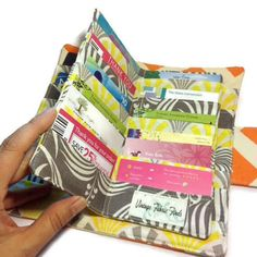 Card wallet tutorial i need this for my reward cards totes and womens card wallet bifold 38 credit card holder loyalty card organizer chevron card wallet womens wallet reheart Images