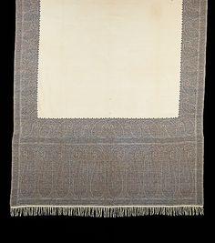Shawl  Date: 1840–49 Culture: French Medium: wool Dimensions: 60 x 133 1/2 in. (152.4 x 339.1 cm)