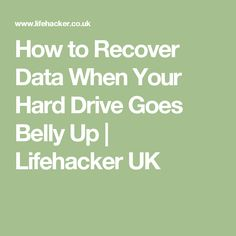 How to Recover Data When Your Hard Drive Goes Belly Up Computer Repair Shop, Pc Hard Drive, Pc Repair, Disco Duro, Data Recovery, Computer Technology, Computer Lab, Good To Know, Coding