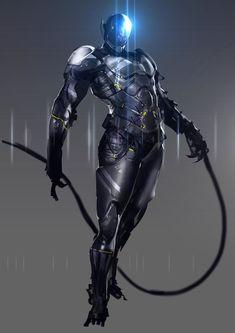 Images: A Collection Of Sci-Fi Concept Art Featuring Mech And Big Guns From Shinku Kim Alien Character, Character Concept, Character Art, Concept Art, Character Design, Character Reference, Cyberpunk, Gundam, Transformers