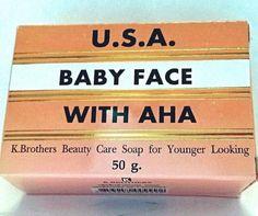 Thai, K Brothers, USA Babyface Original Soap 50.g/1.8oz   (AHA, TUMERIC) `USASLR #KBROTHERS