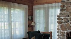 Luminette Privacy Sheers: Hunter Douglas Window Treatments - For sliding glass door.