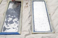 How to paint glass to look like antique mirrors