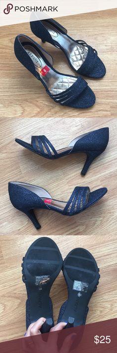 Blue Heels Navy blue sparkly heels. New with box. Alfani Shoes Heels