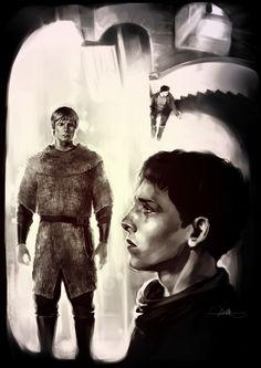 Fanart: Sepia - mushroomtale - Merlin (TV) [Archive of Our Own]