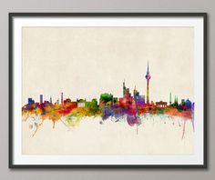 Berlin Deutschland Skyline, Kunstdruck (503)