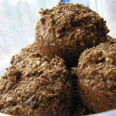 Chopped raisins sweeten these dark, bran-packed muffins.