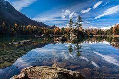 Autumn at its best - Lago di Saoseo, Val da Camp, Switzerland