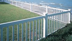 Select from a wide variety of aluminum and vinyl pool fence that meet BOCA National Building Code for Pool Fencing. Vinyl Pool, Front Yard Fence, Pool Fence, Vinyl Picket Fence, Vinyl Fencing, Picket Fences, Fence Slats, Fence Panel, Fencing For Sale