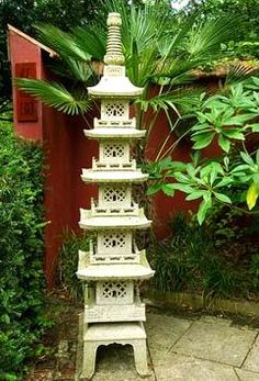 Chinese granite pagoda in the Red Wall garden