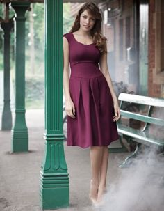 Pepperberry Twill dress. @Hannah Mestel Stamps - GREAT clothes for busty girls!!!