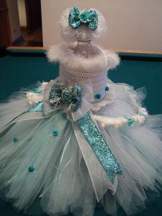 "Winter tutu dress, ""snow princess"", flower girl dress, pageant dress, princess"