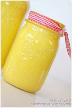 Alderberry Hill: Spray Painted Mason Jars