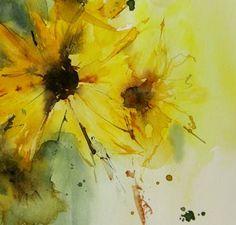 "Saatchi Art Artist Annemiek Groenhout; Painting, ""sunflowers"" #art"