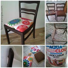 Stühle im Wohnzimmer dunkelbraun streichen und mit roten Stoff neu beziehen ähnliche tolle Projekte und Ideen wie im Bild vorgestellt findest du auch in unserem Magazin . Wir freuen uns auf deinen Besuch. Liebe Grüße