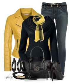 fall outfit more bright leather casual outfit fall outfit yellow ...