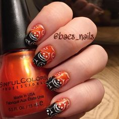Pin for Later: Carve Out Time to Do These Pumpkin Nail Art Looks