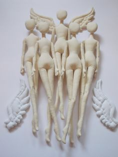 JUEGO de muñeca en blanco 5 cuerpos 17'' para hacer a