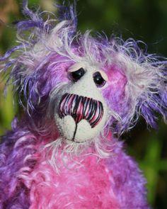 Clara a gorgeous and adorable one of a kind, hand dyed mohair, artist bear by Barbara-Ann Bears, £175.00