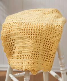 Crochet Filet Bunny Afghan ~ free pattern