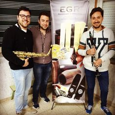 """Abrazaderas EGR en Instagram: """"Dani y Jaco probando su nuevo material #EGR! #abrazaderas #barrilete y muchas cosas más! Si quieres conseguir #productos EGR como ellos y ser un/ una #egrlovers pásate por la #egrstore www.egrstore.com todo para #saxo y #clarinete"""""""