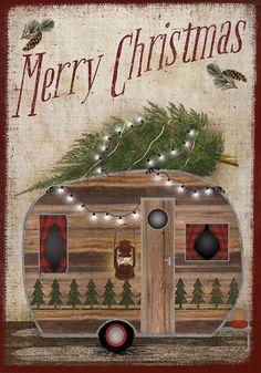 Briarwood Lane Merry Christmas Camper Decorative House Flag