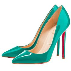 Christian Louboutin Pigalle 120 Pointed Toe Pumps Jade