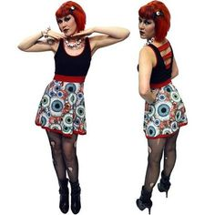 Women's Kreepsville 666 Eyeball Penny Dress S