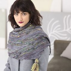 This is Lehigh, my contribution to @malabrigoyarn's latest publication, Malabrigo Book Ten: Rios. Squishy, big and comfy, with a little stitch detail for the perfect amount of interest. Oh, and a tassel. ❤ I used Plomo and Arco Iris for my sample - which two colorways of Rios would you choose? #mairlynd #melanieberg #lehigh #malabrigoyarn #malabrigo #rios #knitlove #knitstagram #knittersofinstagram