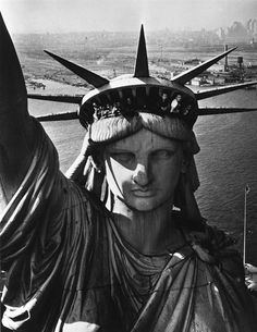 The face of Liberty, New York by Margaret Bourke-White