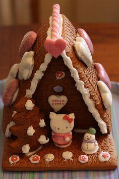 hello kitty gingerbread house (*^^*)