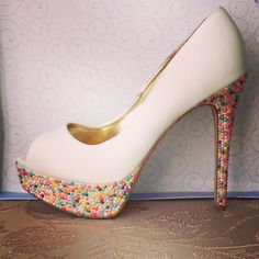 Candy Coated Rhinestone Inspired Heels by SparklewithSteph on Etsy, $150.00