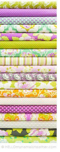 **NEW** Lottie Da fabric line - 32 whimsical fabrics http://www.heatherbaileystore.com/category-s/112.htm