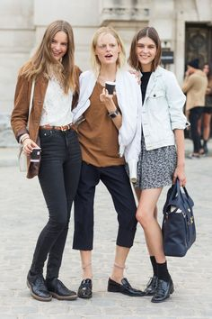 Trifecta. HGO and some fashionable friends, Paris. #HannaGabyOdiele and all the rest.