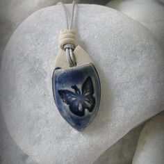 "Cobalt Butterfly - Practice Aromatherapy everywhere! The ""pocket"" design of our pendant provides the optimal personal diffusing method. This design keeps the majority of your essential oil in the pendant producing a time release effect that eliminates access evaporation of oils into the air."