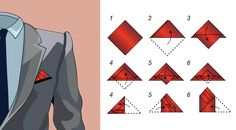 Three Stairs Pocket Square Fold | Learn the Three Stairs Pocket Square Fold | Bows-N-Ties.com