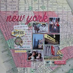 Travel scrapbook layout: New York - Scrapbook.com Webster's Pages - Composition and Color Collection