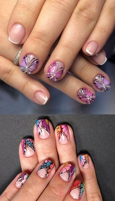 Beautiful and Simple Butterfly Nails