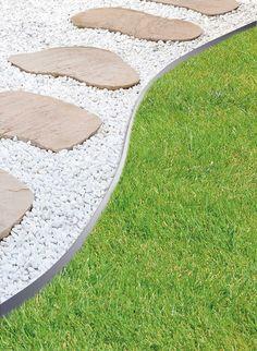Bordure de jardin Ardoisière de PIERRA en pierre reconstituée http ...