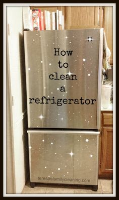 How to clean a refrigerator #tips #cleaning